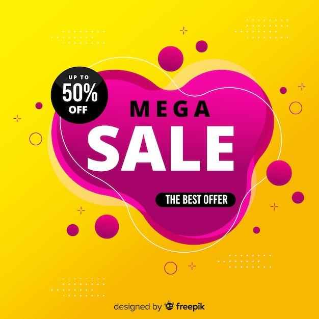 Mega sale promotion hintergrund Kostenlosen Vektoren