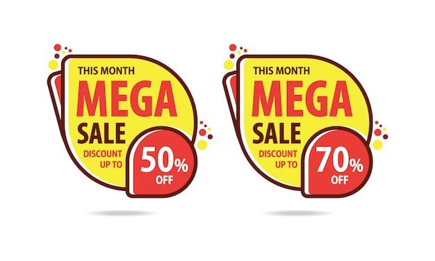Mega sale rabatt Premium Vektoren