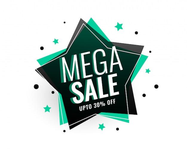 Mega-verkauf stern-tag-banner-design Kostenlosen Vektoren