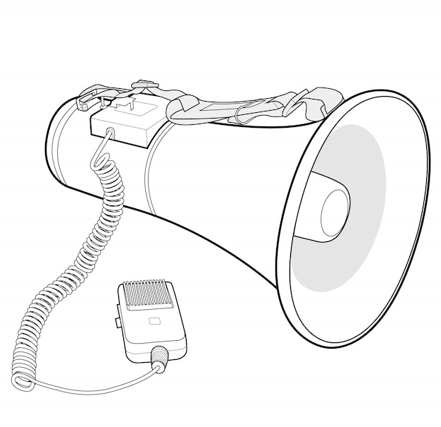 Megaphon lautsprecher vektor design illustration vorlage Premium Vektoren