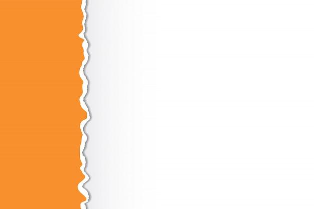 Mehrfarbig zerrissene papierkanten. kunstdesign. Premium Vektoren