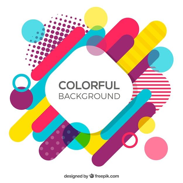 Mehrfarbige geometrische Formen Hintergrund Kostenlose Vektoren