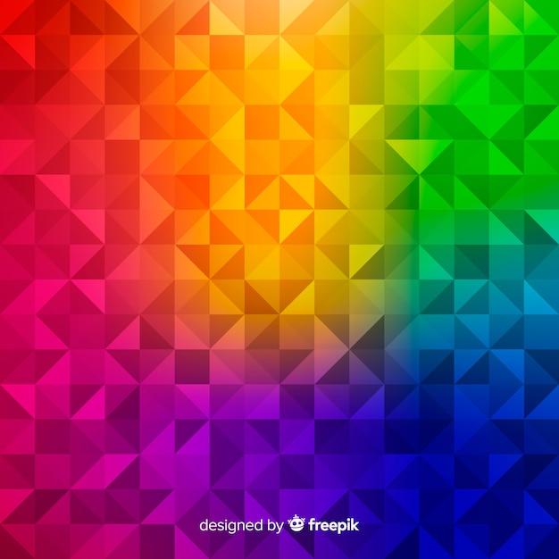Mehrfarbiger moderner abstrakter hintergrund mit geometrischen formen Kostenlosen Vektoren