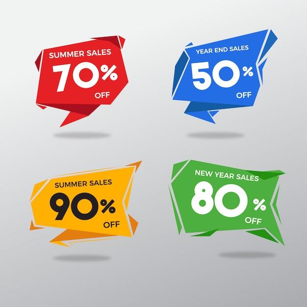 Mehrfarbiges verkaufsetikett Kostenlosen Vektoren