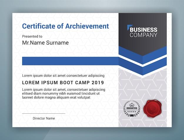 Mehrzweck professional certificate vorlage Premium Vektoren