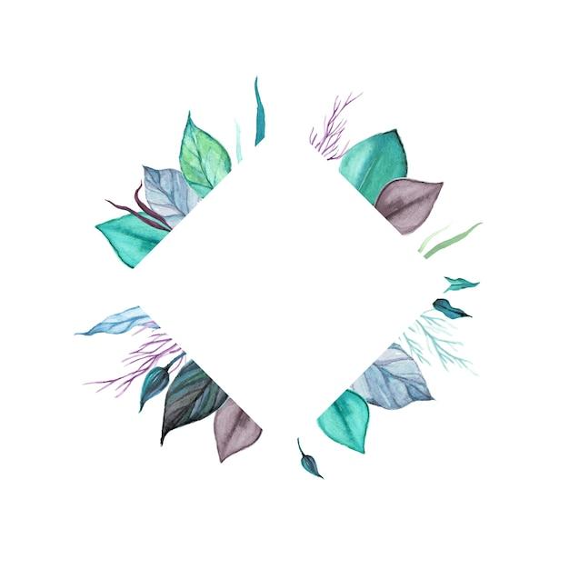 Mehrzweckhintergrund des aquarellblumenrahmens Premium Vektoren