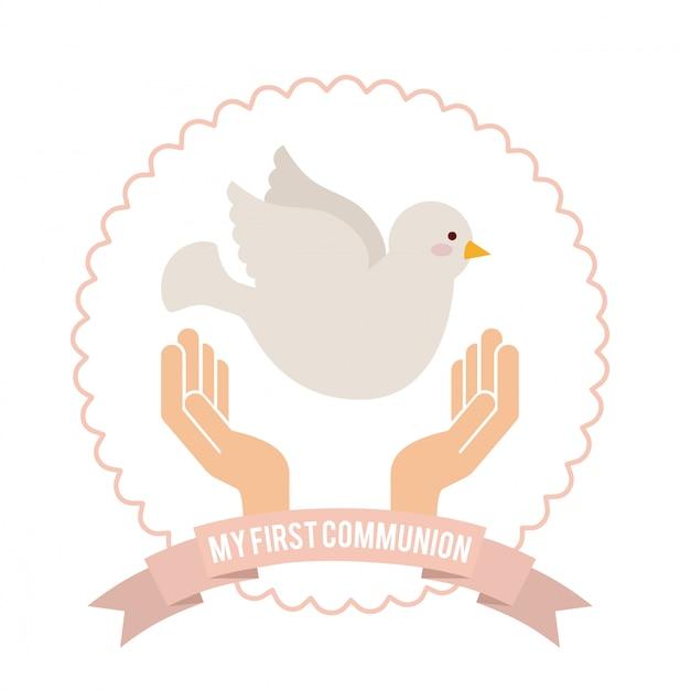 Meine erste kommunion Premium Vektoren