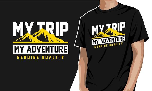 Meine reise mein abenteuer grafik t-shirt Premium Vektoren