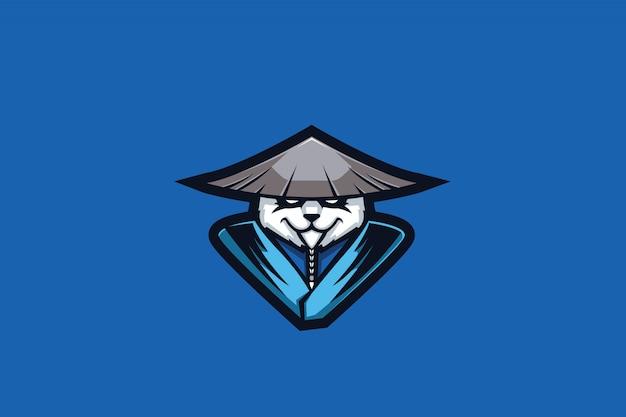 Meister panda e sports logo Premium Vektoren