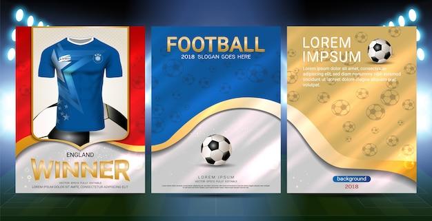Meister sind das sieger-konzept, sport-plakat-schablone Premium Vektoren