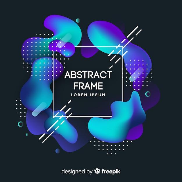 Memphis abstract frame Kostenlosen Vektoren