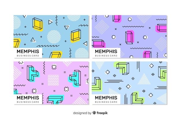 Memphis-art-visitenkarteschablone Kostenlosen Vektoren