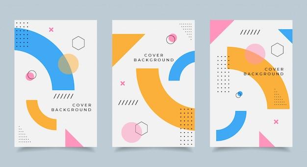Memphis cover design Premium Vektoren