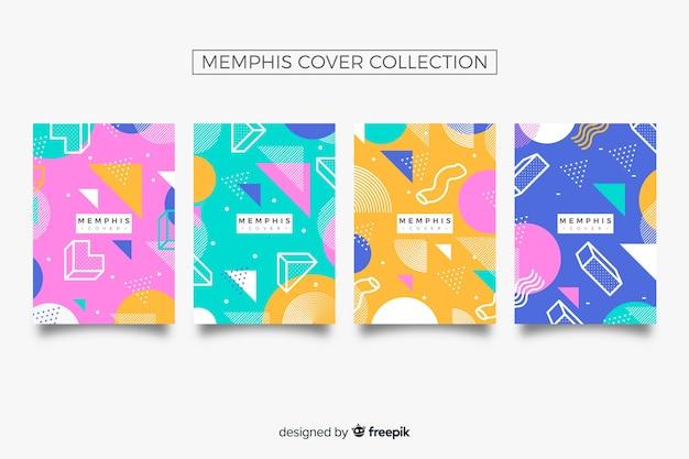 Memphis-cover-sammlung Kostenlosen Vektoren