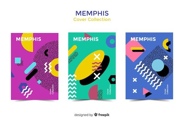 Memphis cover sammlung Kostenlosen Vektoren