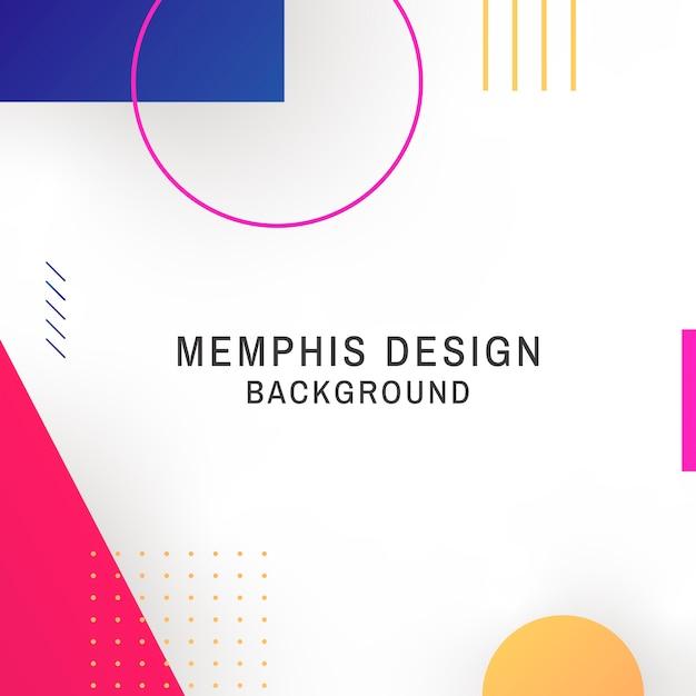 Memphis-hintergrund Kostenlosen Vektoren