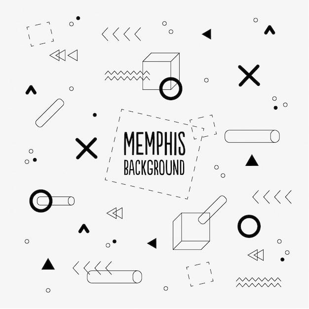 Memphis Muster Hintergrund Kostenlose Vektoren