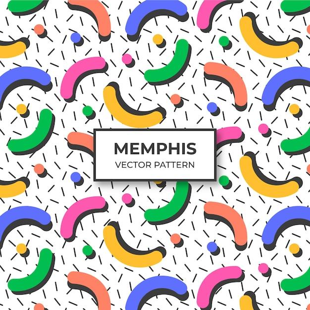 Memphis-musterhintergrund Kostenlosen Vektoren
