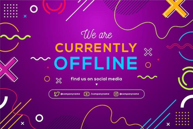 Memphis offline zucken banner mit bunten formen und linien Premium Vektoren