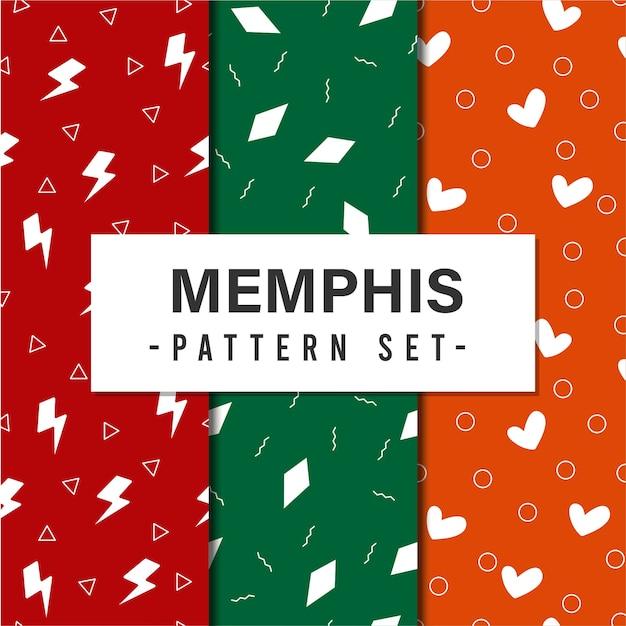 Memphis pattern set Kostenlosen Vektoren