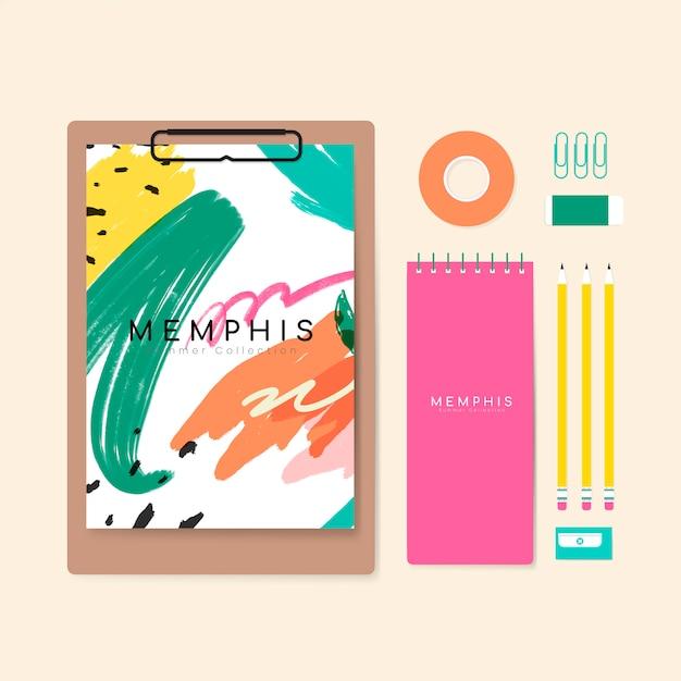 Memphis-sommerbriefpapierabbildung Kostenlosen Vektoren