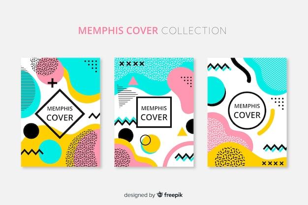 Memphis-stil-broschürenpackung Kostenlosen Vektoren