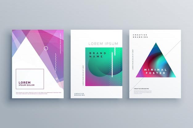 Memphis-Stil Deckblatt Vorlage Design   Download der Premium Vektor