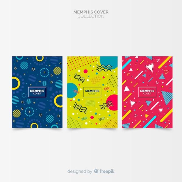 Memphis-style-cover-kollektion Kostenlosen Vektoren