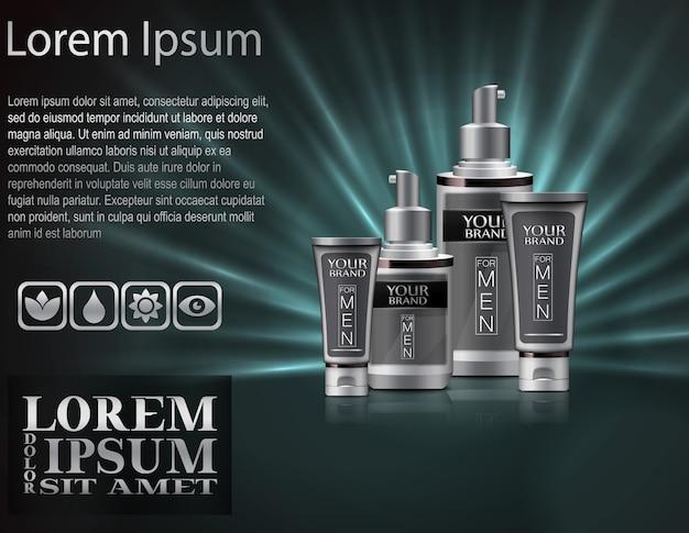 Mens parfüm mit verpackung Premium Vektoren