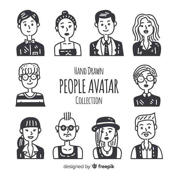 Menschen-avatar-sammlung Kostenlosen Vektoren