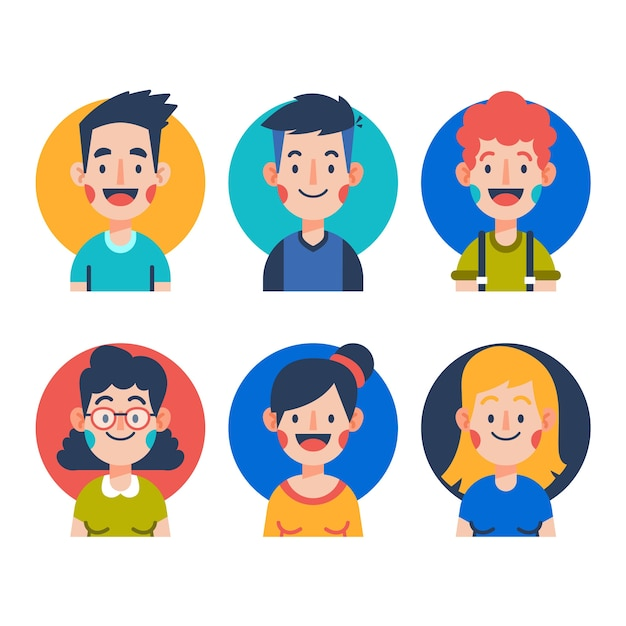 Menschen avatare sammlung Kostenlosen Vektoren