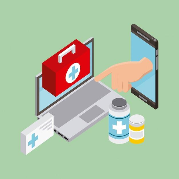 Menschen digitale gesundheit Kostenlosen Vektoren
