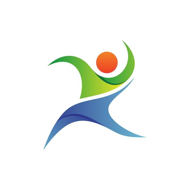 Menschen foundation logo vector Premium Vektoren