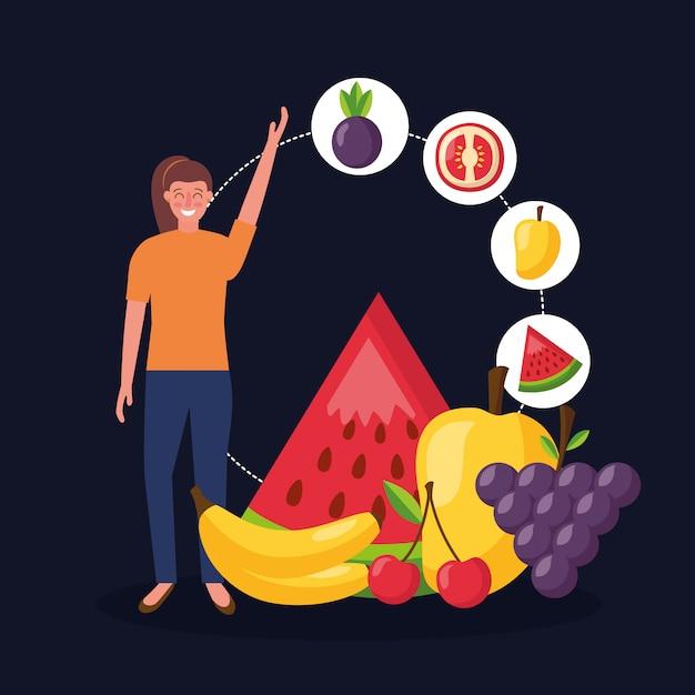 Menschen gesundes essen Kostenlosen Vektoren