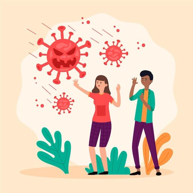 Menschen haben angst vor der coronavirus-krankheit Kostenlosen Vektoren