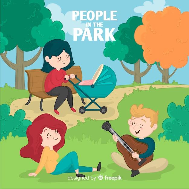 Menschen im park Kostenlosen Vektoren