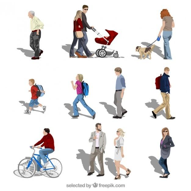 Menschen in Bewegung | Download der kostenlosen Vektor