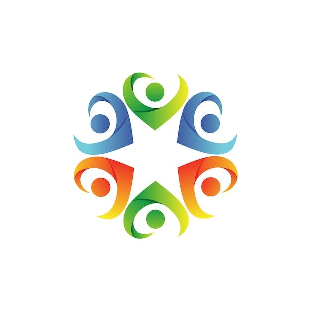 Menschen pflege foundation logo vector Premium Vektoren
