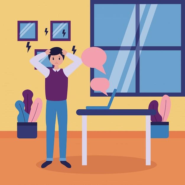 Menschen psychische störung psychisch depressiv Kostenlosen Vektoren