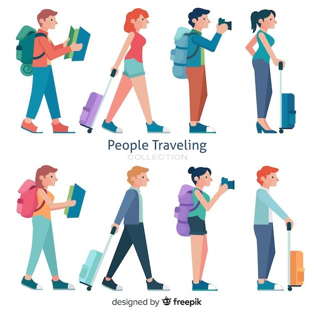 Menschen reisen sammlung Kostenlosen Vektoren