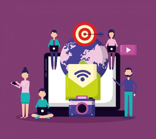 Menschen social media Kostenlosen Vektoren