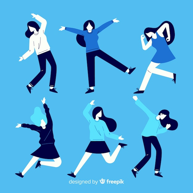 Menschen tanzen sammlung Kostenlosen Vektoren