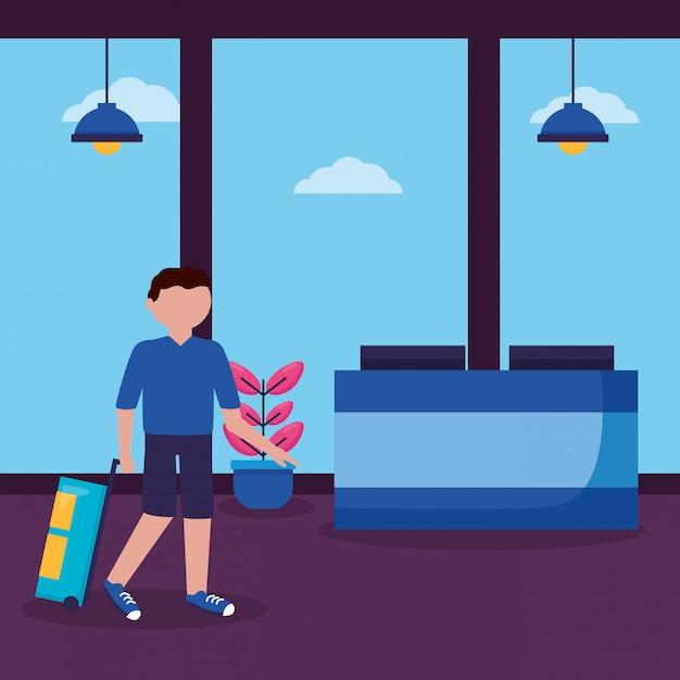 Menschen und reisen flache bauform Kostenlosen Vektoren