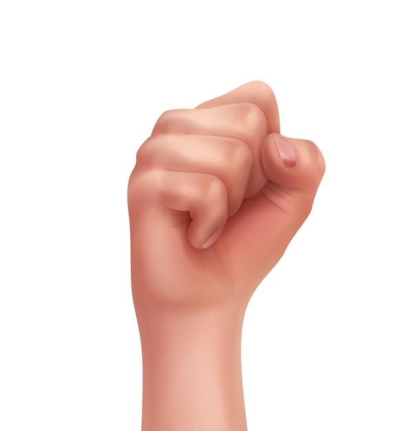 Menschliche hand mit zuerst gefalteten fingern Kostenlosen Vektoren