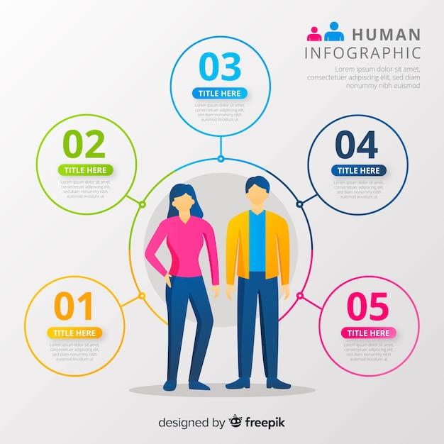 Menschliche infografik Kostenlosen Vektoren