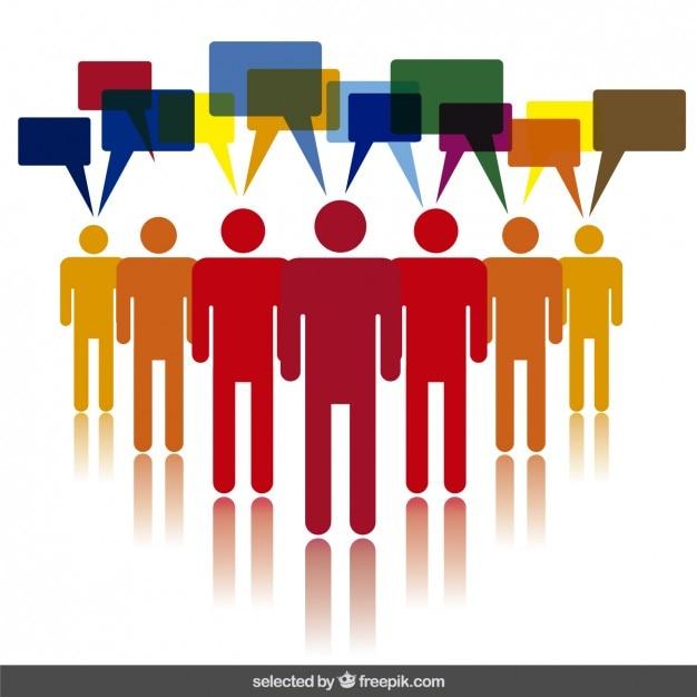 Menschliche kommunikation illustration Kostenlosen Vektoren