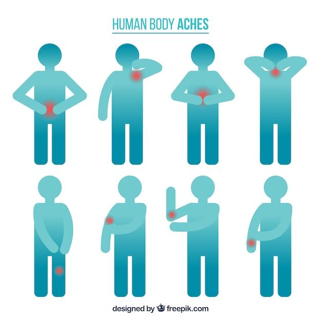 Menschlicher Körper schmerzt Kostenlose Vektoren