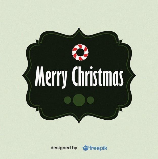 Merry christmas fußmatte Kostenlosen Vektoren