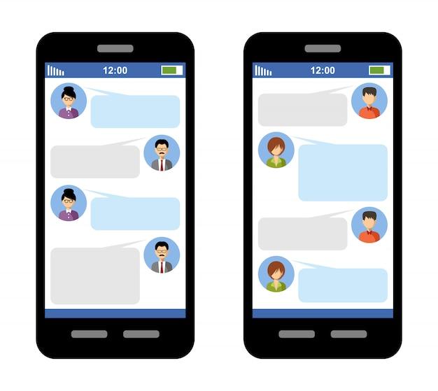 Messenger-konzept Premium Vektoren