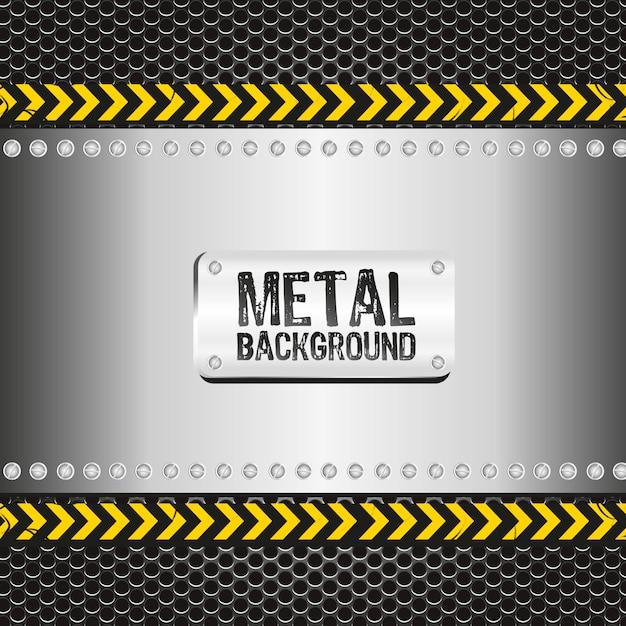 Metall hintergrund auf gepunkteten muster Premium Vektoren